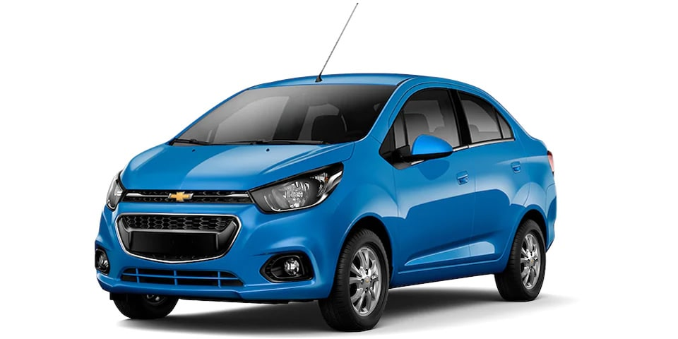 Chevrolet Beat Notchback 2020, sedán en color índigo