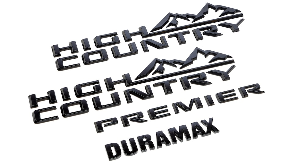 Emblemas High country, Duramax y premier